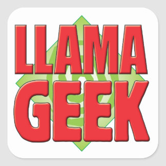 LLama Geek v2 Square Sticker