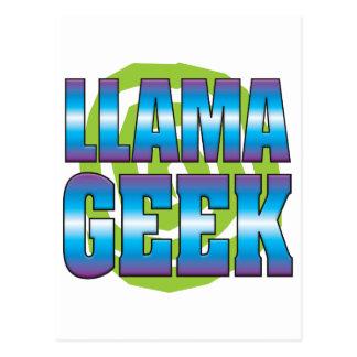 Llama Geek v3 Postcard