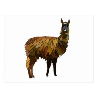 Llama geo design postcard