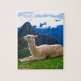 LLama in Machu Picchu Jigsaw Puzzle