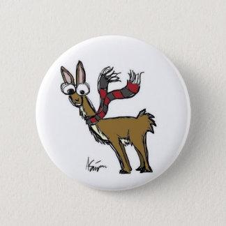 Llama in Scarf Button