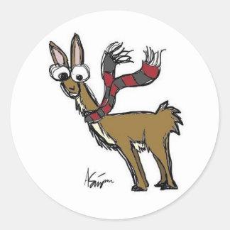 Llama in Scarf Stickers