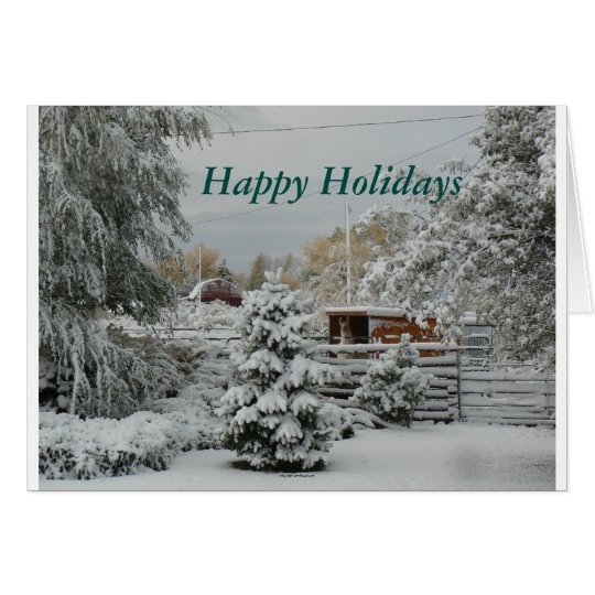 Llama In The Snow Happy Holidays Greeting Card