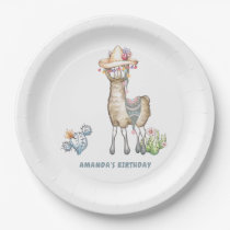 Llama Kids Birthday Party Paper Plate
