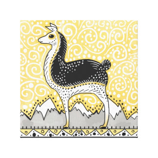 llama llama dot dot wrapped canvas print