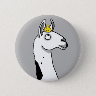 Llama Llama ...duck? 6 Cm Round Badge