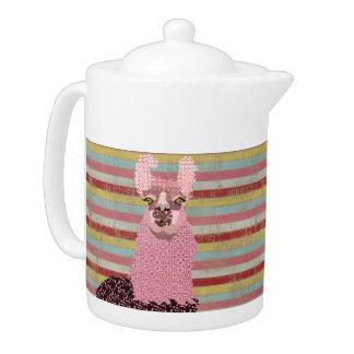 LLama Love Art  Teapot