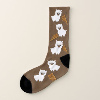Llama Love Socks, Brown,Fun Socks, Gift Socks