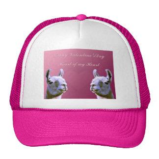 Llama love valentine day heart doube llama cap