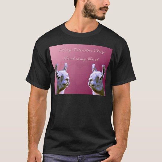 Llama love valentine day heart doube llama T-Shirt
