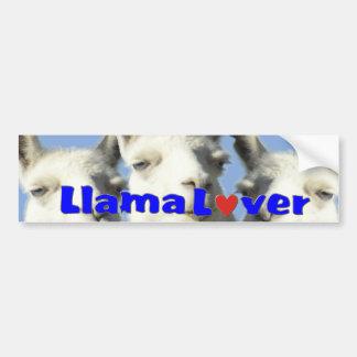 Llama Lover Bbumper STICKER Bumper Stickers