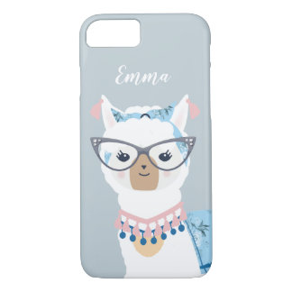 Llama Loves Vintage Glam Phone iPhone 8/7 Case