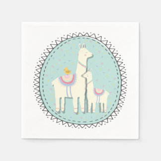 llama momma and baby napkins disposable serviette