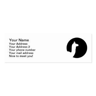 Llama moon business card templates
