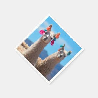 Llama Napkins Disposable Serviette