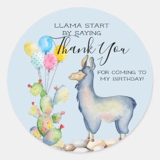 Llama Party Favor Stickers