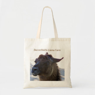 Llama Photo Grocery or Business Ad Tote Bags