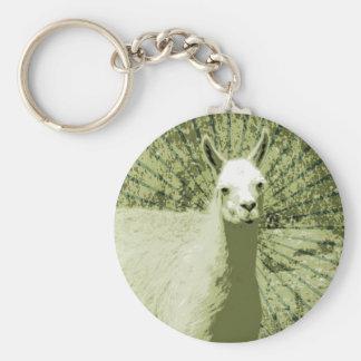 Llama Pop Art Key Ring