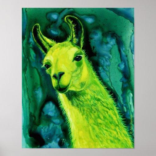 "Llama Poster/Print - ""Llemon-Llime Llama"" Poster"