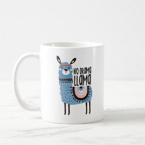 Llama Print Coffee Mug  - No Drama Llama - 11oz