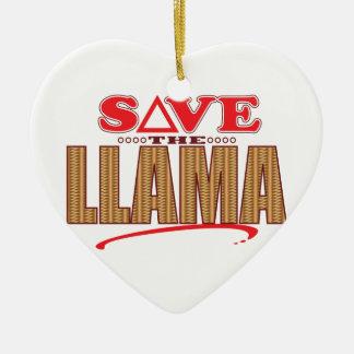 Llama Save Christmas Ornament