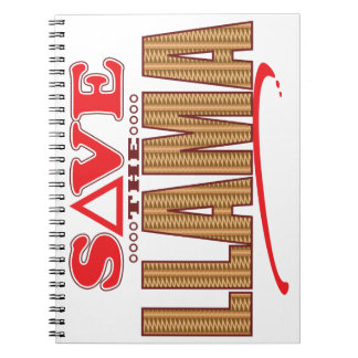 Llama Save Spiral Notebook