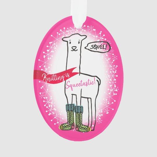 Llama socks knitting crochet Christmas ornament