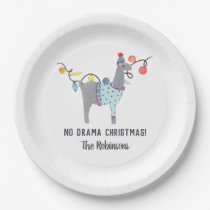 Llama themed Ugly Sweater Christmas Party Paper Plate