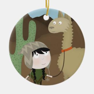 Llama walker christmas ornament