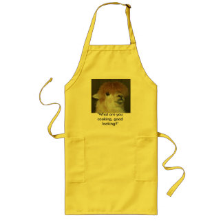 """LLama """"What are you cooking, good looking?"""" Long Apron"""