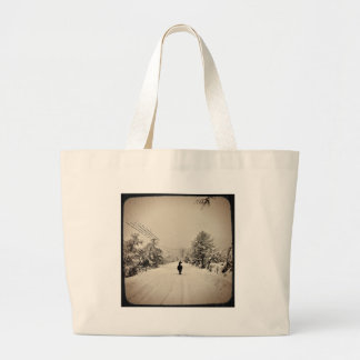 llama winter large tote bag