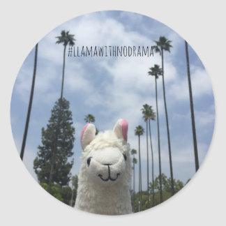 Llama With No Drama LA Sticker