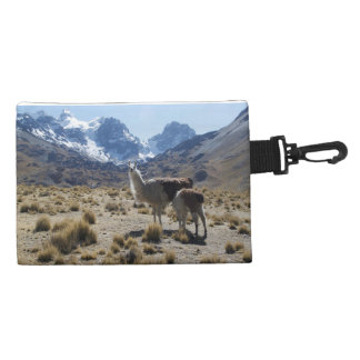 Llama with Nursing Baby Bolivia Mountains Accessories Bags