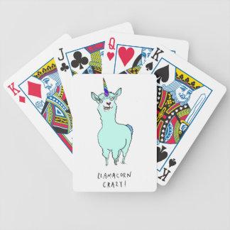 Llamacorn Bicycle Playing Cards