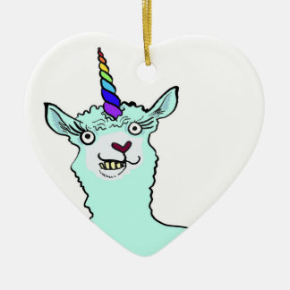 Llamacorn Christmas Ornament
