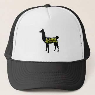 Llamas are awesome! trucker hat