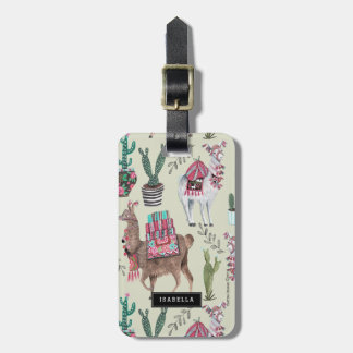 Llamas Cactus | Travel vacation | Luggage Tag