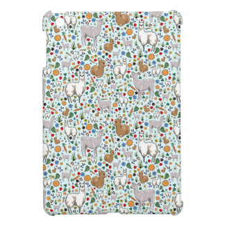 Llamas in Blue iPad Mini Cover
