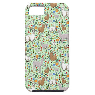 Llamas in Green Tough iPhone 5 Case