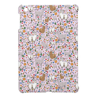 Llamas in Pink iPad Mini Cover