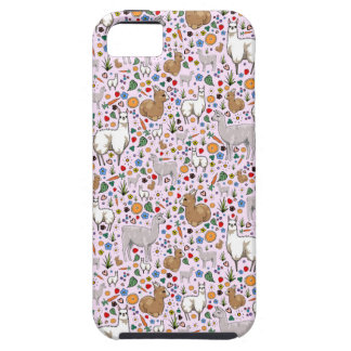 Llamas in Pink Tough iPhone 5 Case