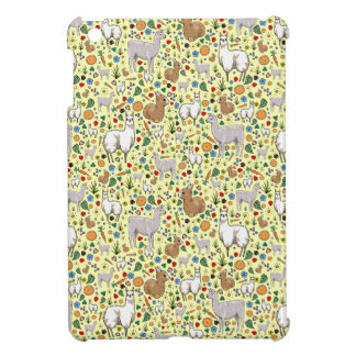 Llamas in Yellow iPad Mini Case