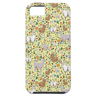 Llamas in Yellow iPhone 5 Cases