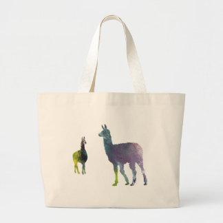 Llamas Large Tote Bag