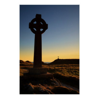 Llanddwyn Island Crosses, Anglesey, wales Posters