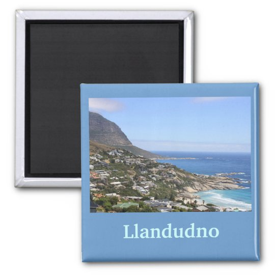 Llandudno, Cape Town, South Africa Square Magnet