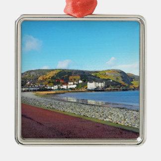 Llandudno, North Wales. Silver-Colored Square Decoration