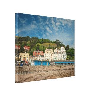 Llandudno Scenic Coastal beach view in Wales UK Canvas Print