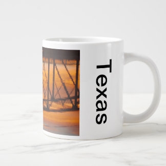 Llano Texas bridge sunrise reflections mug