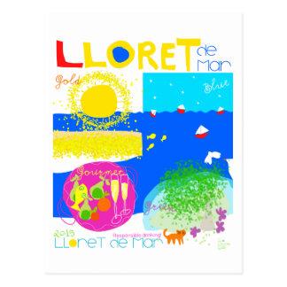 Lloret de Mar Costa Brava. Postcard